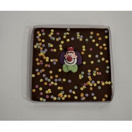 Tablette clown au chocolat au lait